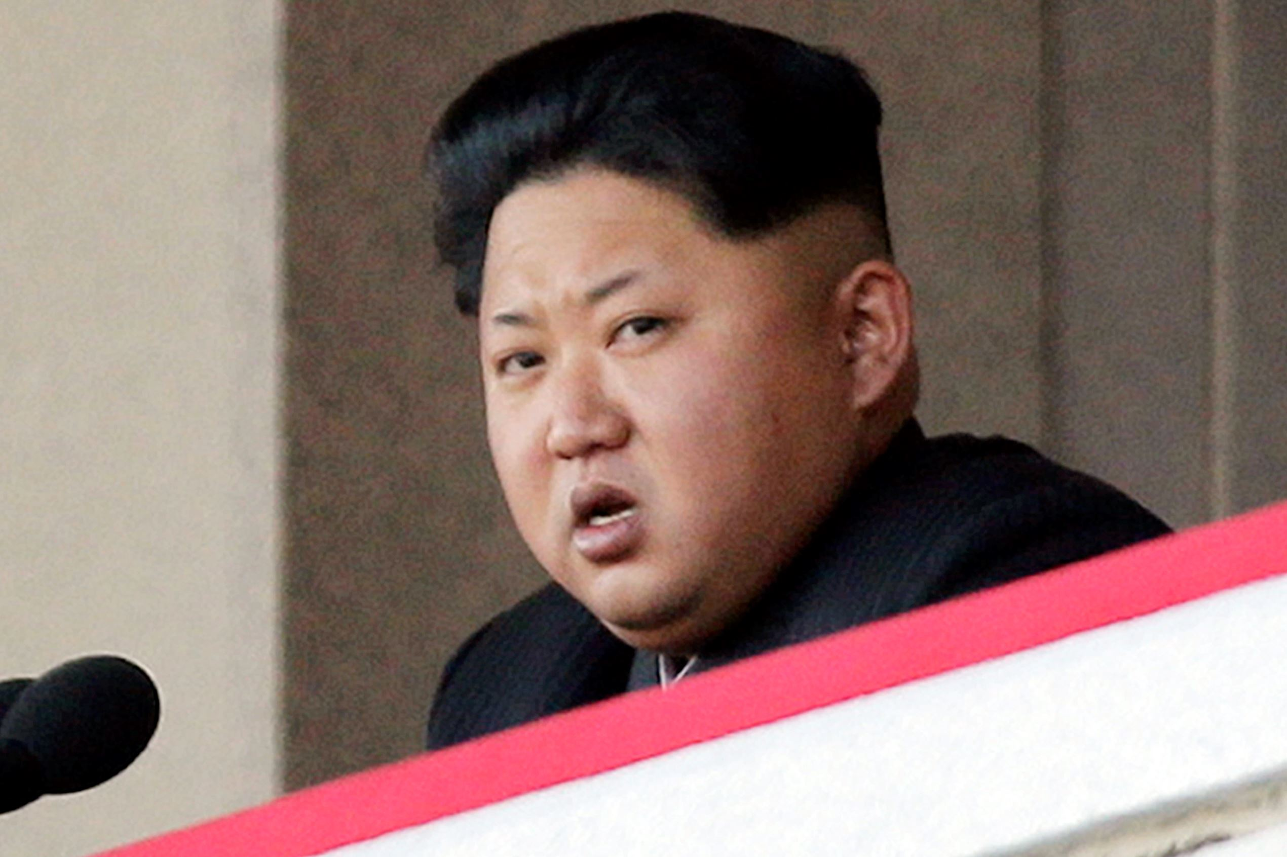 In this Oct. 10, 2015, file photo, North Korean leader Kim Jong Un delivers remarks at a military parade in Pyongyang, North Korea.