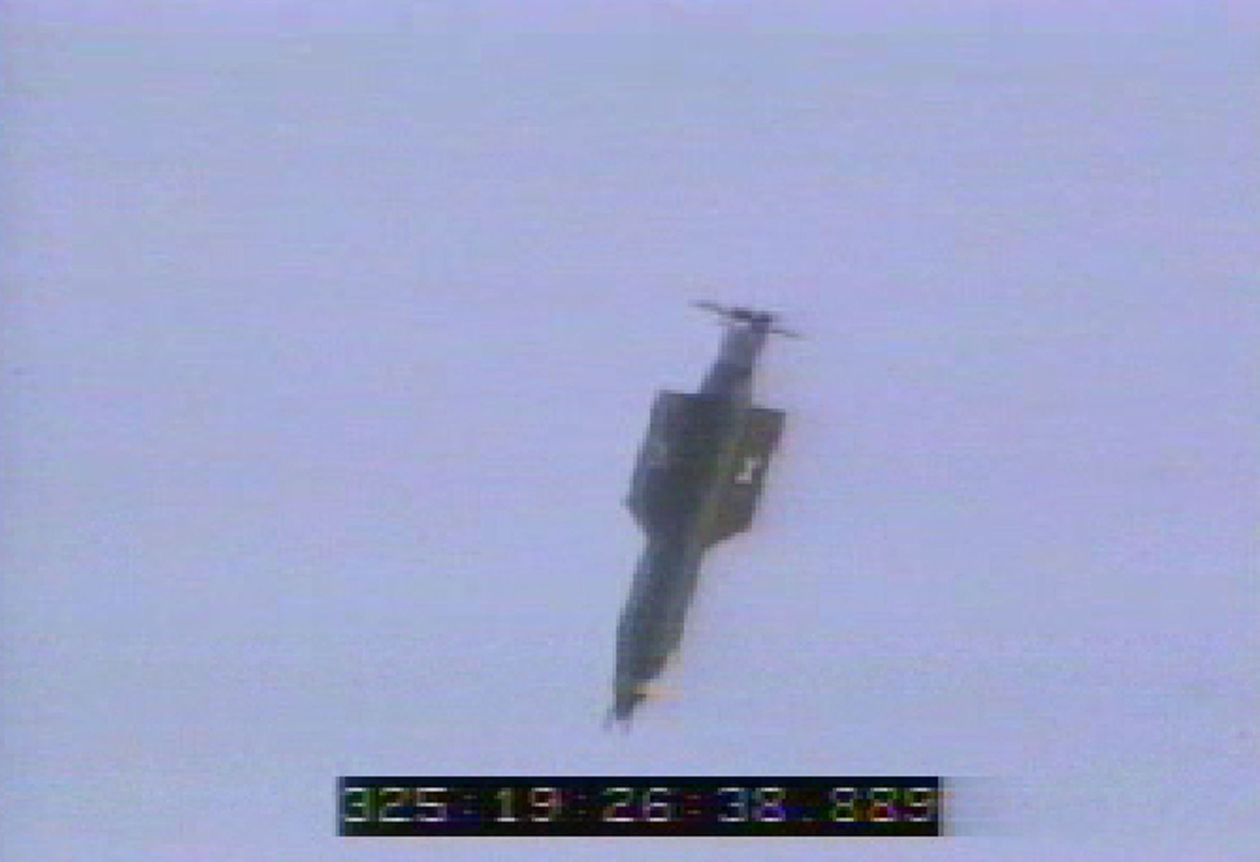 In this U.S. Air Force handout, a GBU-43/B bomb, or Massive Ordnance Air Blast (MOAB) bomb, is launched November 21, 2003 at Eglin Air Force Base, Florida. MOAB is a 21,700-pound that was droped from a plane at 20, 000 feet.