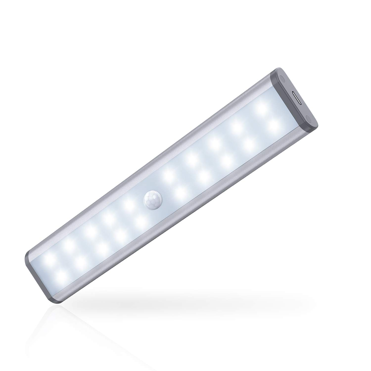 motion sensor closet lights moston 20 led wireless under cabinet lighting with built in rechargeable battery stick on anywhere magnetic night lamp