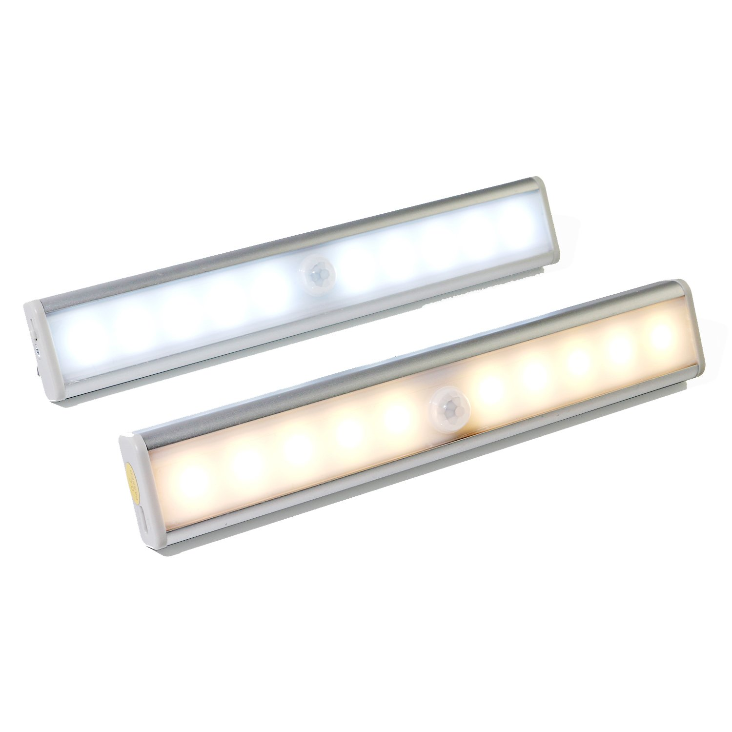 rechargeable under cabinet lights portable diy stick on anywhere 10 led night light motion sensor for closet wardrobe cupboard patio stairs hallway