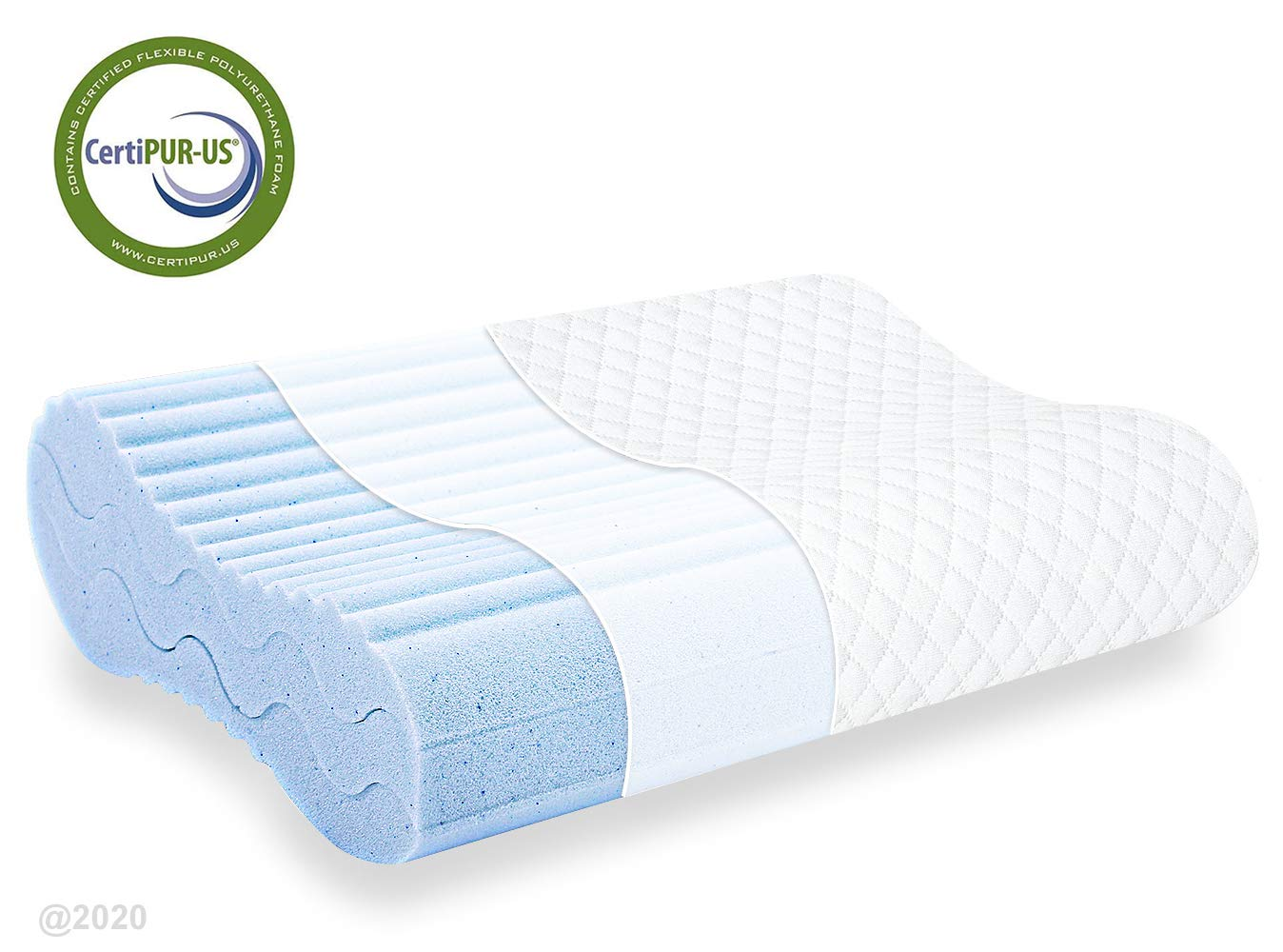 milemont memory foam pillow bed pillow for sleeping adjustable contour pillow for neck pain neck support for back stomach side sleepers
