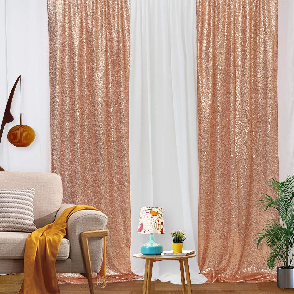 sequin backdrop rose gold backdrop sequin curtain backdrop glitter backdrop drapes 2ftx8ft