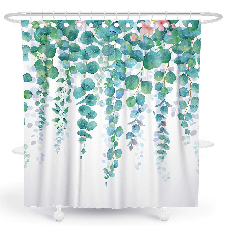 desihom green plant shower curtain botanical leaf shower curtain floral garden shower curtain tropical shower curtain succulent shower curtain summer