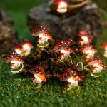 Onemore Fun Mushroom String Lights 10ft 30leds Christmas Decorations Battery Powered Princess Lights For Home Girls Bedroom Indoor Dorm Room Outdoor Wedding Nursery Party Patio Fence Plants Decor