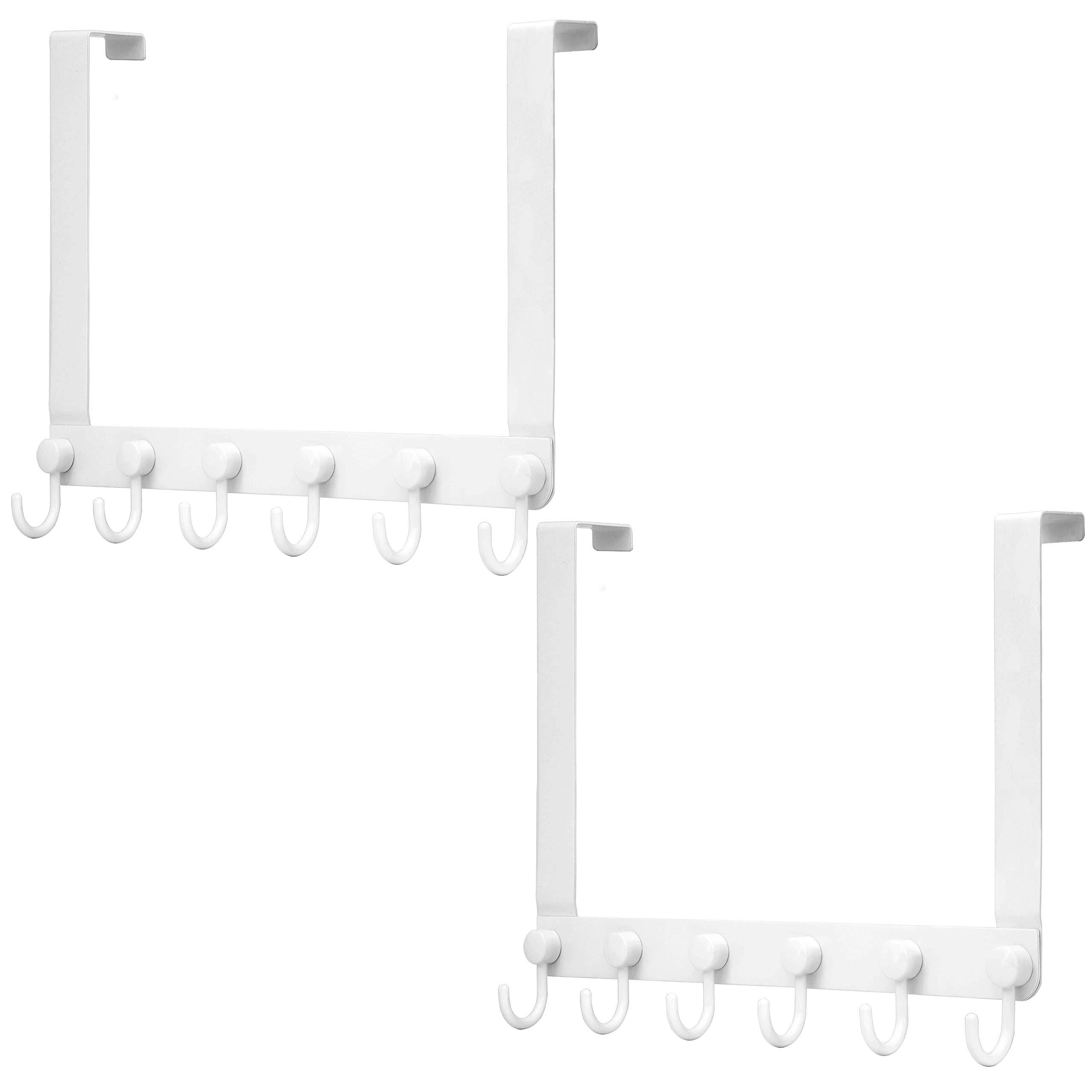 webi over the door hook door hanger over the door towel rack with 6 coat hooks for hanging door coat hanger over door coat rack for