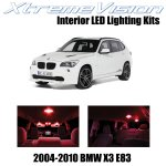Xtremevision Interior Led For Bmw X3 E83 Suv 2004 2010 16 Pieces Red Interior Led Kit Installation Tool