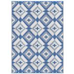 Outdoor Rug For Patio Recycled Plastic Mat Blue White Pattern Reversible Easy Clean Green Waterproof Sun Dirt Stain Proof Beach Picnic Rv Camping 4 X 6 Newport Blue Diamond