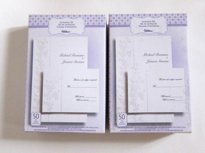 White Fl Wedding Invitation Printable Kit Reply Cards Envelopes 100 Sets
