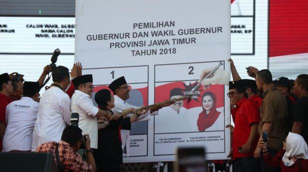 Megawati kampanye paslon Gus Ipul-Puti Guntur
