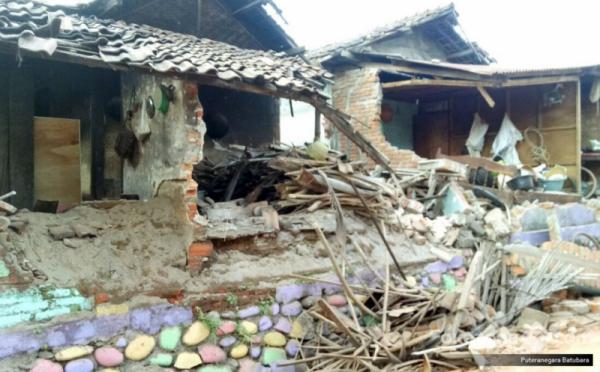 Dampak gempa Lombok. (Foto: Puteranegara Batubara/Okezone)