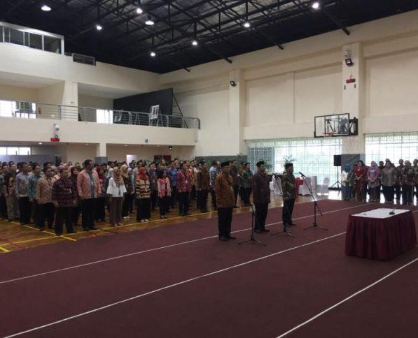 Pelantikan Kombes RZ Panca Putra sebagai dirdik KPK. (Foto: Arie Dwi Satrio/Okezone)