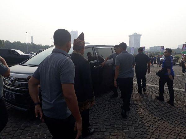 SBY saat meninggalkan Deklarasi Kampanye Damai