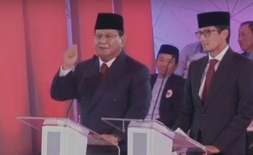 Prabowo-Sandi saat debat
