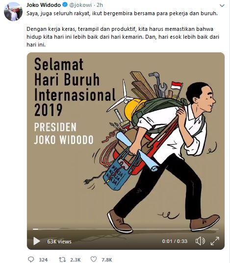 Twit Jokowi