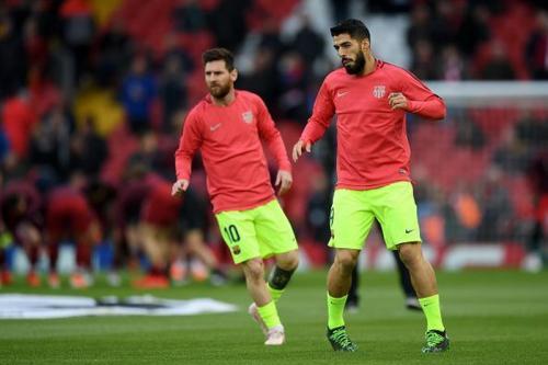 Lionel Messi dan Luis Suarez (Foto: Sportskeeda)