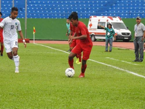 Timnas Indonesia U-18 saat hadapi Timor Leste