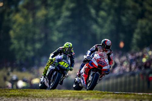 Francesco Bagnaia dan Valentino Rossi