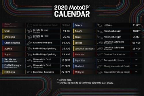 Kalender balap MotoGP 2020 terbaru (Foto: Twitter/@MotoGP)