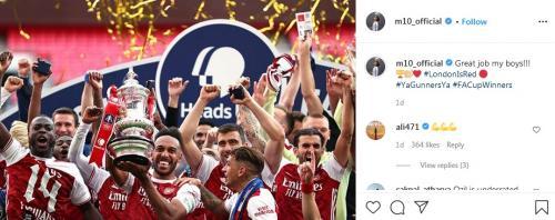 Kasihan, Ozil Hanya Bisa Rayakan Kemenangan Arsenal di Piala FA ...