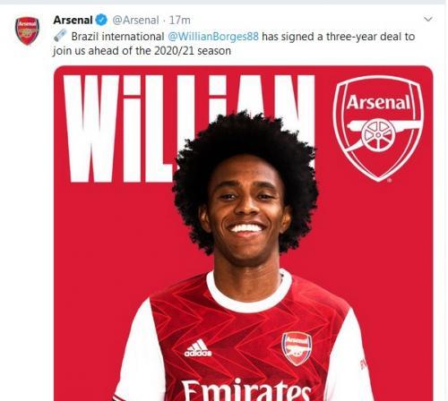Willian Borges Resmi Gabung Arsenal : Okezone Bola