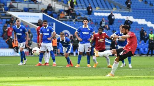 Bruno Fernandes baru mencetak dua gol dari titik putih (Foto: Premier League)