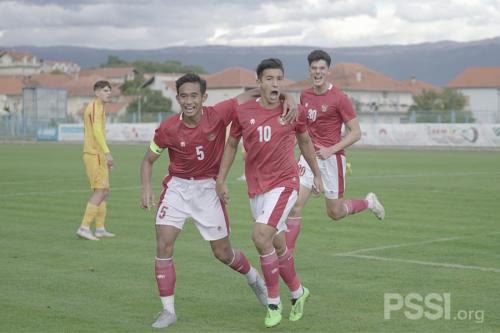 Timnas Indonesia U-19 menang telak atas Makedonia Utara (Foto: PSSI)