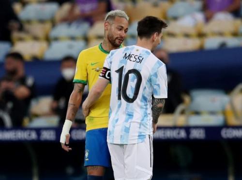 Neymar Jr dan Lionel Messi bersahabat (Foto: Reuters)