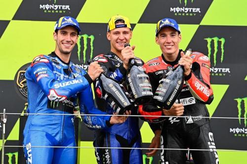 Podium MotoGP Inggris 2021