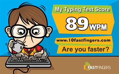Touch typing speed test for Virtu@dmin | Virtu@dmin