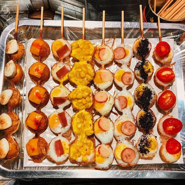 (台南)傻妞吃花園夜市~叫阿能煎鳥蛋、統大碳烤香雞排