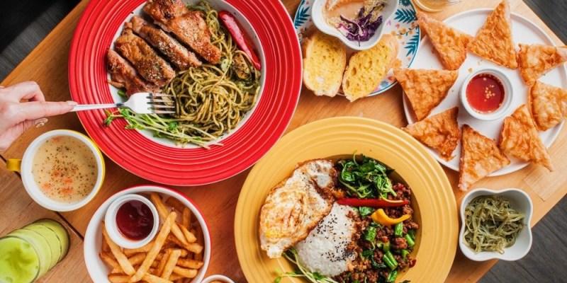 (台南美食/東區) 『逗点,複合餐飲』獨家特濃青醬吃了超驚豔!主餐只要$119元起,台南平價義大利麵推薦!