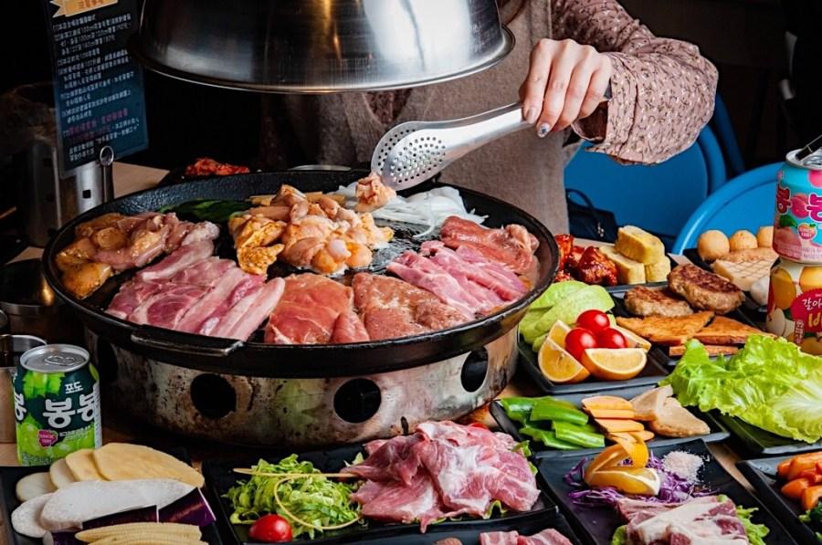 (台南美食/中西區)【豬對有韓式烤肉吃到飽】只要299元起物超所值 ! 食材豐富又新鮮 ! CP值超高的台南吃到飽餐廳!