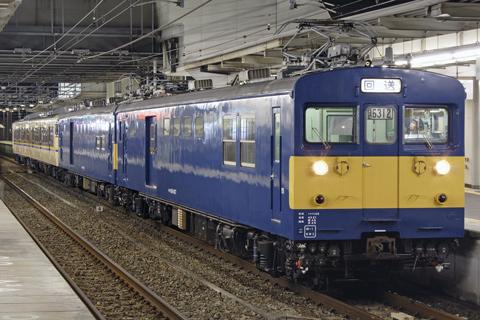 【JR西】113系3800番台N4編成ST出場