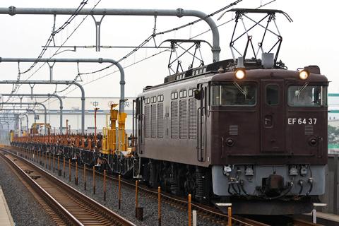 【JR東】EF64-37牽引小淵沢工臨返空