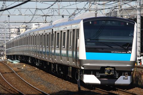 【JR東】E233系ウラ131編成ウラ区へ