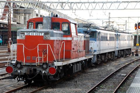 【JR貨】EF65-1005+DE10OM入場