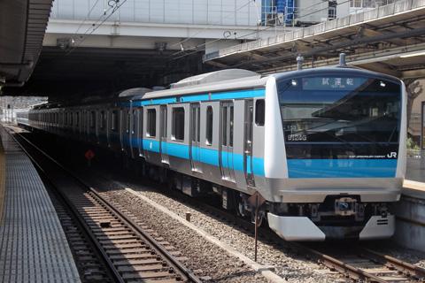 【JR東】E233系ウラ153編成ウラ区へ