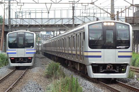 【JR東】E217系Y15編成TK入場