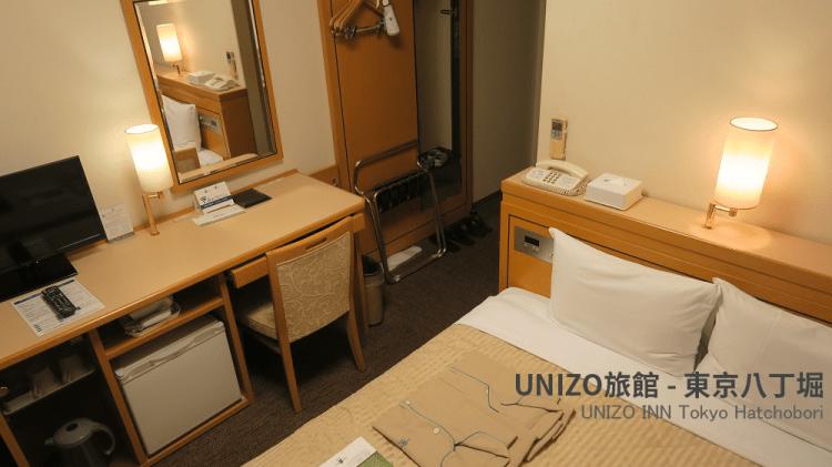 |東京車站飯店|UNIZO旅館(東京八丁堀),想玩迪士尼又想住市區的好住宿