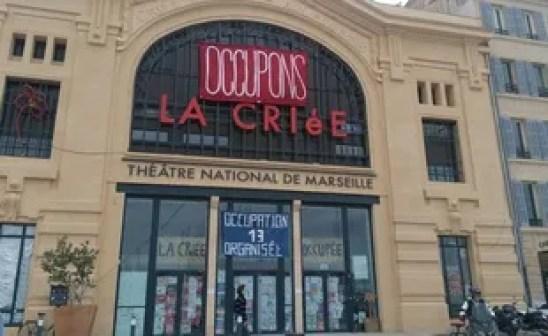 La Criée, scène nationale de théâtre à Marseille, est occupée depuis le 15 mars