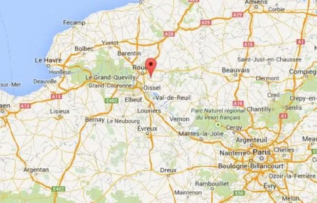 Google Map de la ville de Franqueville-Saint-Pierre (Seine-Maritime).