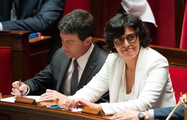 Manuel Valls et Myriam El Khomri à l'Assemblée nationale, le 5 juillet 2016.