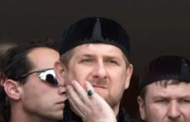 Le président tchétchène Ramzan Kadyrov le 23 mars 2014 à Abu Ghosh.