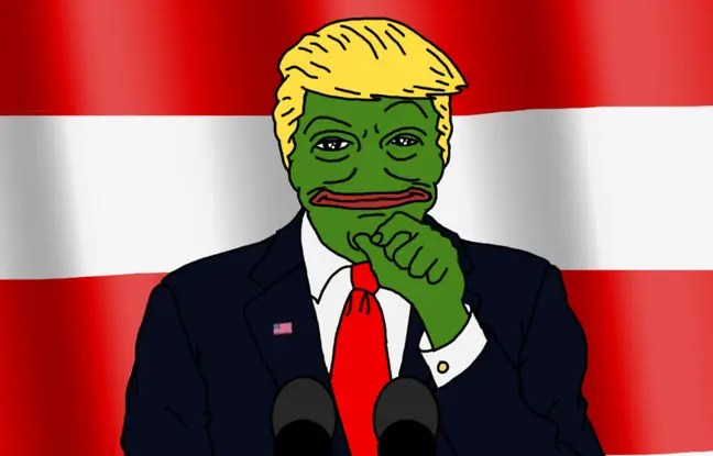 Pepe The Frog récupéré par les supporters de Donald Trump.