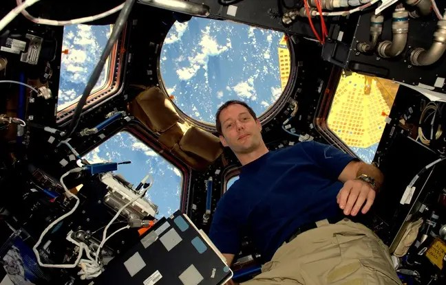 Thomas pesquet, dans la station spatiale internationale