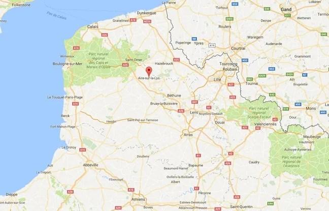 Localisation d'Aire-sur-la-Lys (Pas-de-Calais)