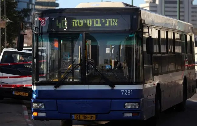 Un bus à Tel-Aviv, le 21 janvier 2015.