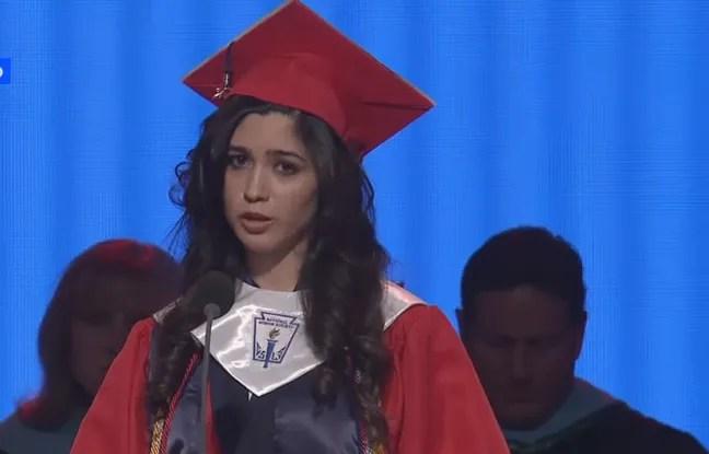 Larissa Martinez lors de sa remise de diplôme