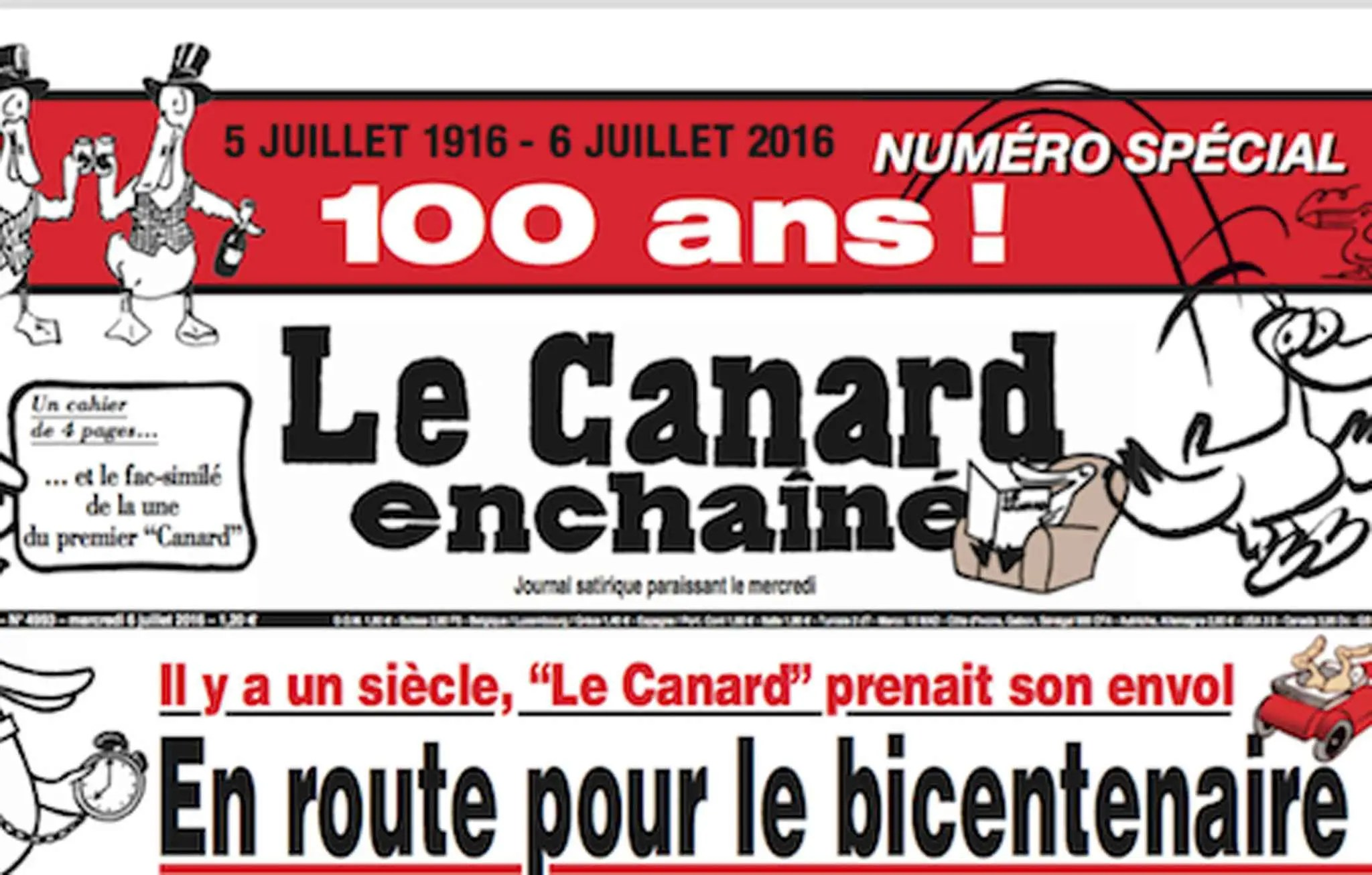 """Résultat de recherche d'images pour """"Le Canard enchaîné: 100 ans"""""""
