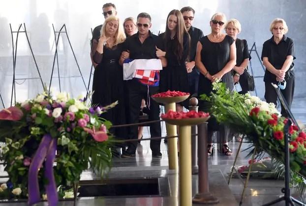 Zagreb: Posljednji ispraćaj Rajka Dujmića na groblju Krematorij